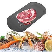 解凍プレート、解凍プレート、2 in 1アルミニウム高速解凍トレイ食品肉解凍プレートキッチンアクセサリー(ブラック)