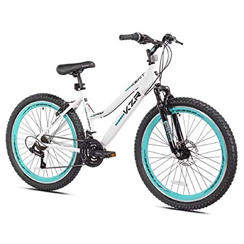 26' Women's Kent KZR Mountain Bike, White/Teal,...