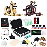 Dragonhawk Complete Tattoo Kit 2pcs Coil Tattoo Machine Tattoo Guns Color Immortal Inks Power Supply 20 Needles Tips Grips Travel Case Tattoo Supplies for Tattoo Artists 2-2YMX