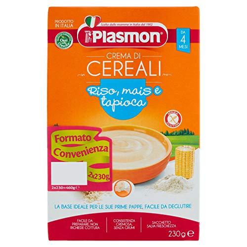 Plasmon Crema di Cereali - Riso, Mais, Tapioca, 2 x 230 g
