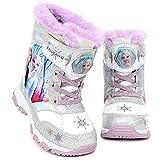 [ディズニー] アナと雪の女王2 Frozen 2 エルサ アナ オラフ ライトアップ ピカピカ 光る靴 スノー ブーツ (16.0 cm, ホワイト&シルバー) [並行輸入品]