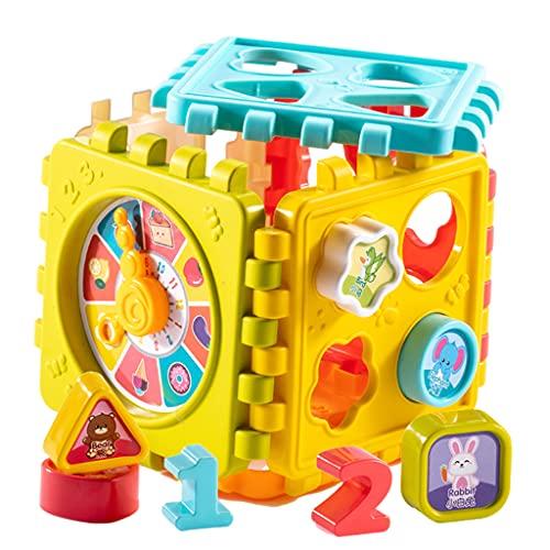 freneci Bloques de Apilamiento de Números Y Formas Montessori para Niños Pequeños Juguetes de Entrenamiento de Cubos