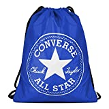 Converse Bolsa de deporte unisex con logotipo grande, Unisex adulto, Bolsas con cordón, 10005428, azul, talla única