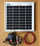 10W 12v Mono crystalline Solar Panel for Mobile Battery Charging and Science Project.