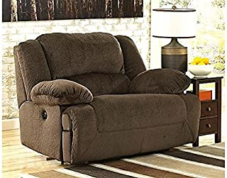 Signature Design by Ashley Toletta Wall Power Wide Recliner - Contemporary Style - Chocolate