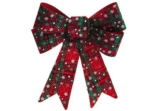 Toyland Weihnachtsschleife mit Schottenkaro, 33 cm groß, Weihnachtsdekoration