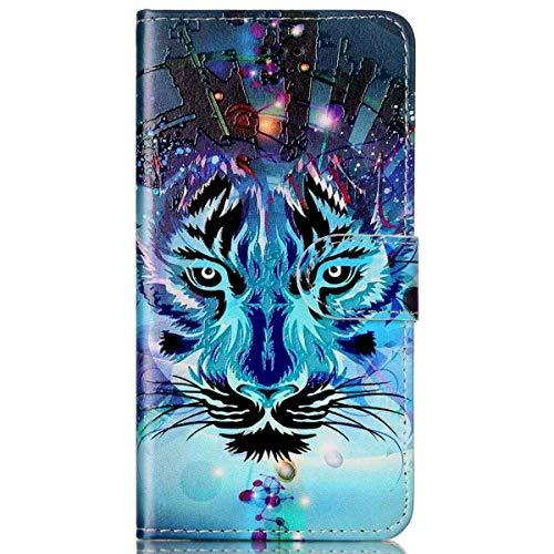 kompatibel mit Galaxy S7 Hülle,Galaxy S7 Schutzhülle,Galaxy S7 Leder Tasche,Surakey Lederhülle Galaxy S7 PU Leder Flip Case Brieftasche Hülle Wallet Tasche Case für Galaxy S7,Blue Wolf
