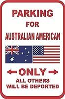 ヴィンテージの壁の装飾サイン、オーストラリア系アメリカ人の追放された2073年壁サインアート鉄絵レトロ金属プラーク装飾警告サインカフェバースーパーマーケットカフェテリアホーム