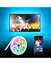 LED Strip Lights 5m HEERTTOGO, 5050 RGB LED TV Backlight with App Remote Control, 5m Music Sync Color Changing Lights USB Powered for Home Decor