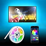 Tiras LED TV 5m, HEERTTOGO USB Luces LED RGB Retroiluminación con Control App,...