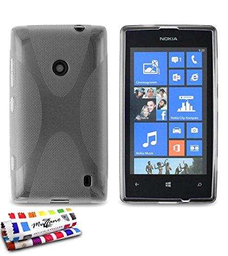 MUZZANO Original X-Cover Flessibile, per Nokia Lumia 525, Colore: Grigio
