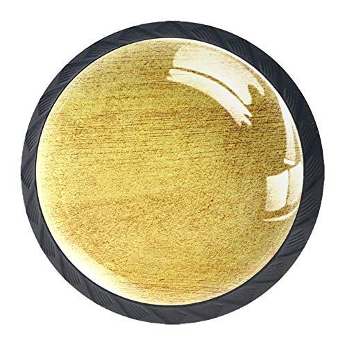 Abstrakte Messingknöpfe aus ABS-Kunststoff für Schränke und Schubladen, 4 Stück