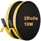 JEMESI Tira de Sellado Junta 12 mm (W) * 6 mm (H) * 10 m (L), Tiras de Sellado Autoadhesiv...