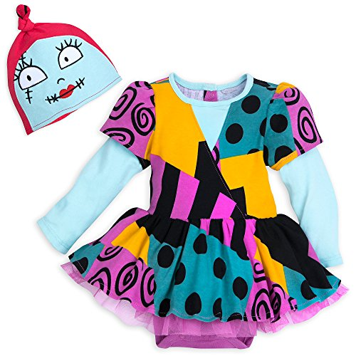Disney Sally Costume Bodysuit with Hat for Baby - The Nightmare Before Christmas Size 12-18 MO Multi
