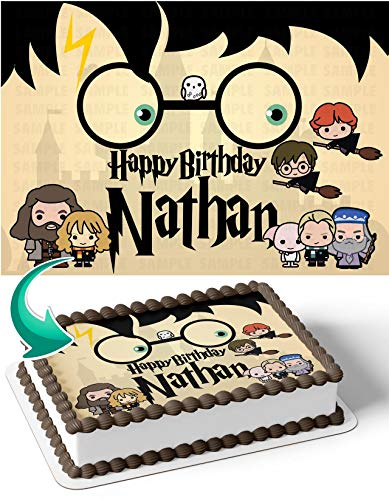 Cakecery Harry Potter HR Edible Cake Image Topper Personalized Birthday Cake Banner 1/4 Sheet