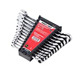 MAXPOWER 12pc Combination Ratchet Wrench Set - Industrial Grade Open-end Metric...