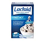 Lactaid Fast Act Lactose Intolerance Relief Caplets with Lactase Enzyme, 96 Travel Packs of 1-ct.