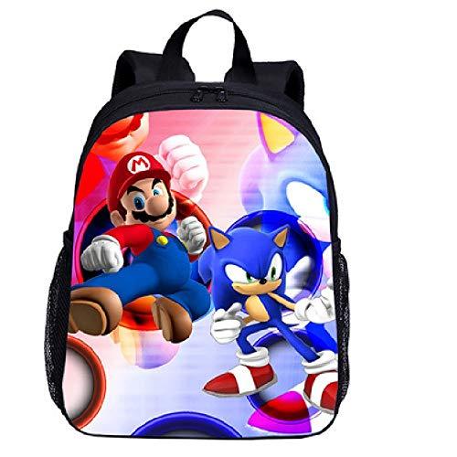Mochila dibujos animados niños Mario Bros Sonic  mochilas escolares para  ortopédica