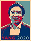 United States USA President Presidential Election Voting 2020 Andrew Yang Democratic Party White House Candidates 18x24 - Vinyl Print Poster (Yang) - Gifts For Him, For Her, For Boys, For Girls,