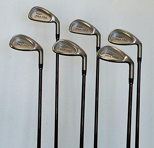 WalkGolf Eagle SL 2600 Eisen MOI matched / harmonised Golfschlägersatz, Damen- und Jugendgolfschläger für Anhänger bzw. Handicaps 36 und höher für Rechtshänder (Eisen: 2)