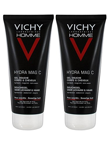 Vichy Homme MAG-C Gel Douche Hydratant Revigorant Lot de 2 x 200 ml