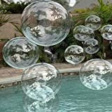 lightsfever Clear Balloons 20pc Bobo Balloons Pool Balloons Round Bubble Balloons perfect for Helium or Air (20 pack)