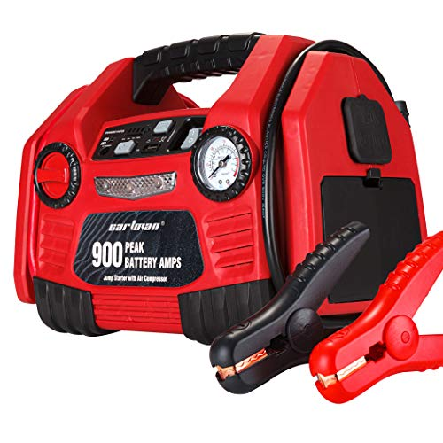 CARTMAN Portable 9AH 12V Jump Starter Booster with Air Compressor