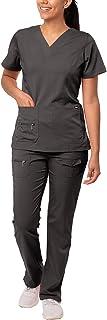Adar Uniforms Women's 4400pwrl Medical Scrubs, Pewter, L UK