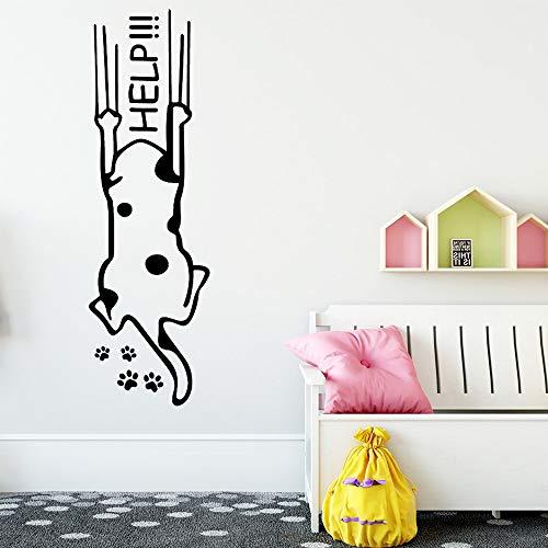 Lindo perro de dibujos animados etiqueta de la pared arte mural Diy cartel sala de estar decoración del dormitorio impermeable etiqueta de la pared A8 43x141cm
