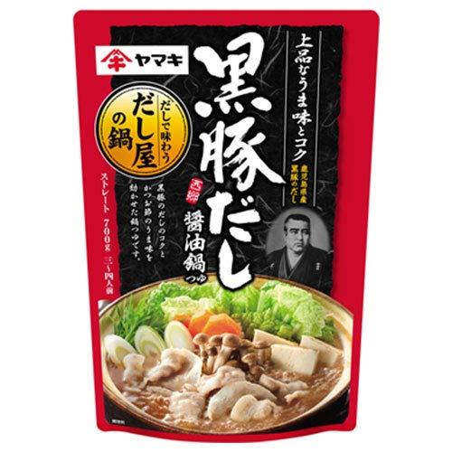 ヤマキ 黒豚だし 醤油鍋つゆ 700g×12袋入×(2ケース)