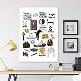 JEfunv Seinfeld TV-Show Poster Seinfeld Fan Geschenk