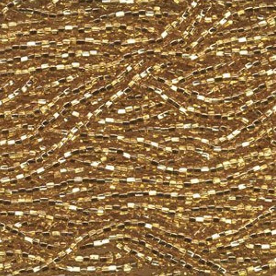 Czech Rocailles Seed Bead 8/0 (1/2 Hank Pack) GOLD SILVER LINED