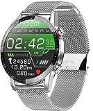 jpantech Smartwatch Uomo Impermeabile 5ATM 1.3''Orologio Fitness Tracker Touch Screen | Chiamate Bluetooth | Monitor ECG | monitoraggio della frequenza cardiaca Misurazione della Pressione arteriosa