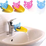 HeroNeo® New Bathroom Sink Faucet Extender Cute Crab Shape For Children Kid Washing Hands