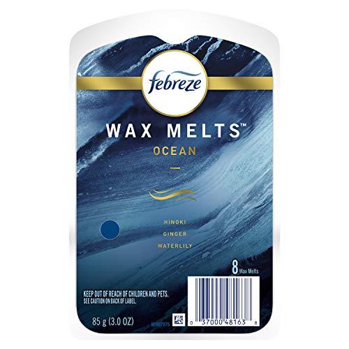 Febreze Odor-Eliminating Melt Air Freshener Refills, Ocean, 8 Ct