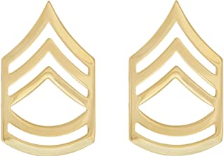 U.S. Army Metal Pin On Enlisted Rank NON-SUBDUED (SHINY) - 1 PAIR