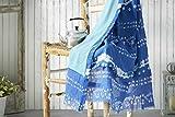 Burrito Blanco Pareo para Playa 197 | Toalla Pareo con Diseño Estampado de Tai Dai de...