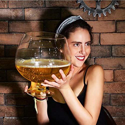 Tgbyhnujm Big Huge Weinglas für Party WeingläserWeinglasBierglasTrinkglasGlastassen, 2L