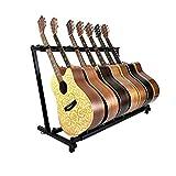 YUSDP Soporte de Guitarra múltiple -7 Soporte, DISEÑO Plegable portátil - con...