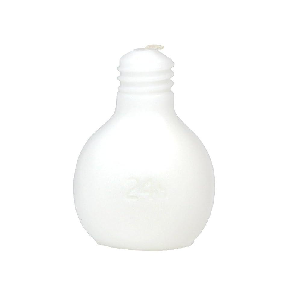 アイスクリームサバント伸ばすカメヤマキャンドルハウス 節電球キャンドル  ホワイト