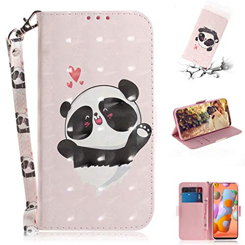 Nadoli Wallet Case for Samsung Galaxy S20 FE,3D Effect Pink Panda Pattern Pu Leather Cover ID Card Holder Function Flip Kickstand Strap Case for Samsung Galaxy S20 FE