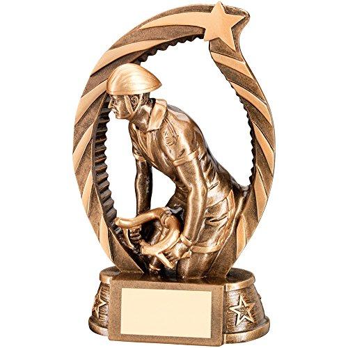 Trofeo Archway da ciclismo con stelle, colore: bronzo/oro, , 14 cm (5,5')