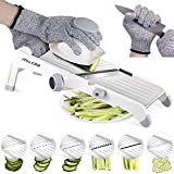 MILcea Mandoline Slicer, Stainless Steel Mandoline Slicer Adjustable Kitchen Food Julienne Slicer
