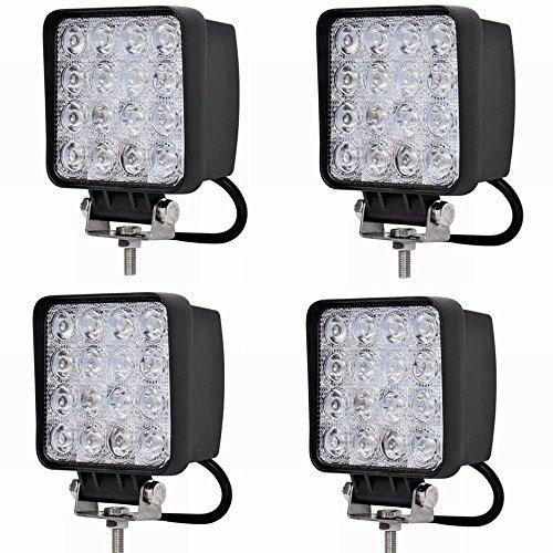 LARS360 48W LED Auto Arbeitslicht Scheinwerfer Spot Flood Combo Schwarz Wasserdicht für Offroad SUV ATV UTV Arbeitslampe Traktor Bagger LKW KFZ (4x48W)
