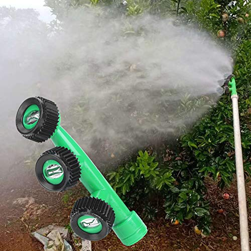 Huairdum Boquilla de nebulización, Boquilla de Alta presión en Forma de Abanico Duradera, Boquilla de atomización de pesticidas Árboles de Acero Inoxidable de fácil instalación para césped de
