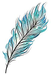 temporary tattoo feather