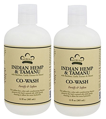 Price comparison product image Nubian Heritage Indian Hemp and Tamanu Co-Wash (Pack of 2) with Bamboo Extract,  Shea Butter,  Coconut Oil and Garlic Bulb