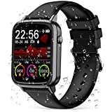 2020 CEGAR Fitness Tracker, Smart Watch with Heart Rate, Ip68 Waterproof Bluetooth Smartwatch for Android iOS Phone, Sleep Tracking Calorie Counter,Pedometer for Women Men (Black)