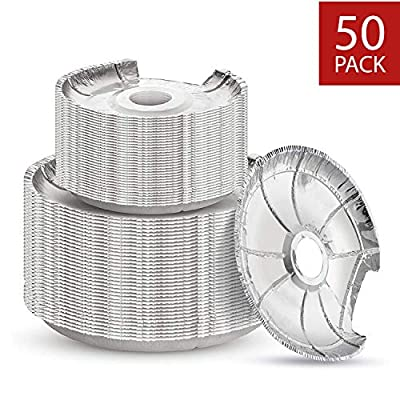 Electric Stove Burner Covers by Linda's Essentials (50 Pack) | Disposable Aluminium Stove Burner Liners | Round Foil 6 and 8 Inch Burner Liners Keep Electric Range Stove Clean From Oil and Food Drips