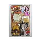 TrAdE Shop Traesio- Moka CAFFETTIERA Tazza con Piatto Cucchiaio Caffe' Zucchero Latte Gioco Bambine